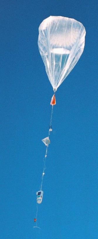 Vol d'un ballon stratosphérique ; crédits CNES/Ph.Cocquerez