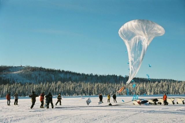 Tests de vol à Kiruna (Suède) ; crédits CNES/Ph.Cocquerez