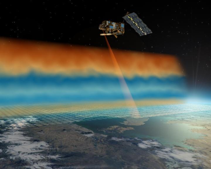 L'instrument IASI du CNES à bord du satellite Metop-A depuis 2006. Crédits : ESA/Ill. AOES Medialab